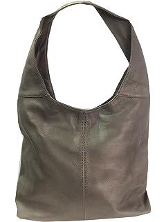 Black Soft Italian Leather Handbag, Shoulder Bag or Slouch Bag ...