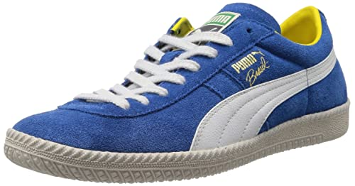 0ae02acf26f Puma Men s Brasil Football VNTG French Blue and White Sneakers - 10UK India  (44.5