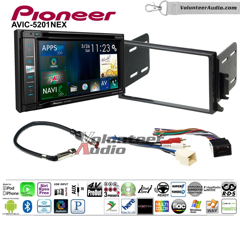 Pioneer AVIC-5201NEX Double Din Radio Install Kit with Navigation Apple Carplay Bluetooth Fits 1998-2002 Continental