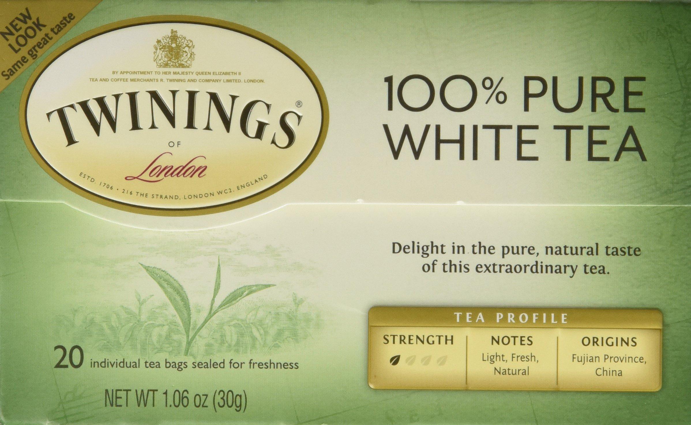 Twinings of London''Fujian Chinese Pure White Tea'' : Box of 20 Tea Bags