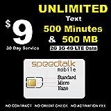 Prepaid GSM SIM Unlimited Text 500 Minutes Talk & 500 MB Data 30 Day Service