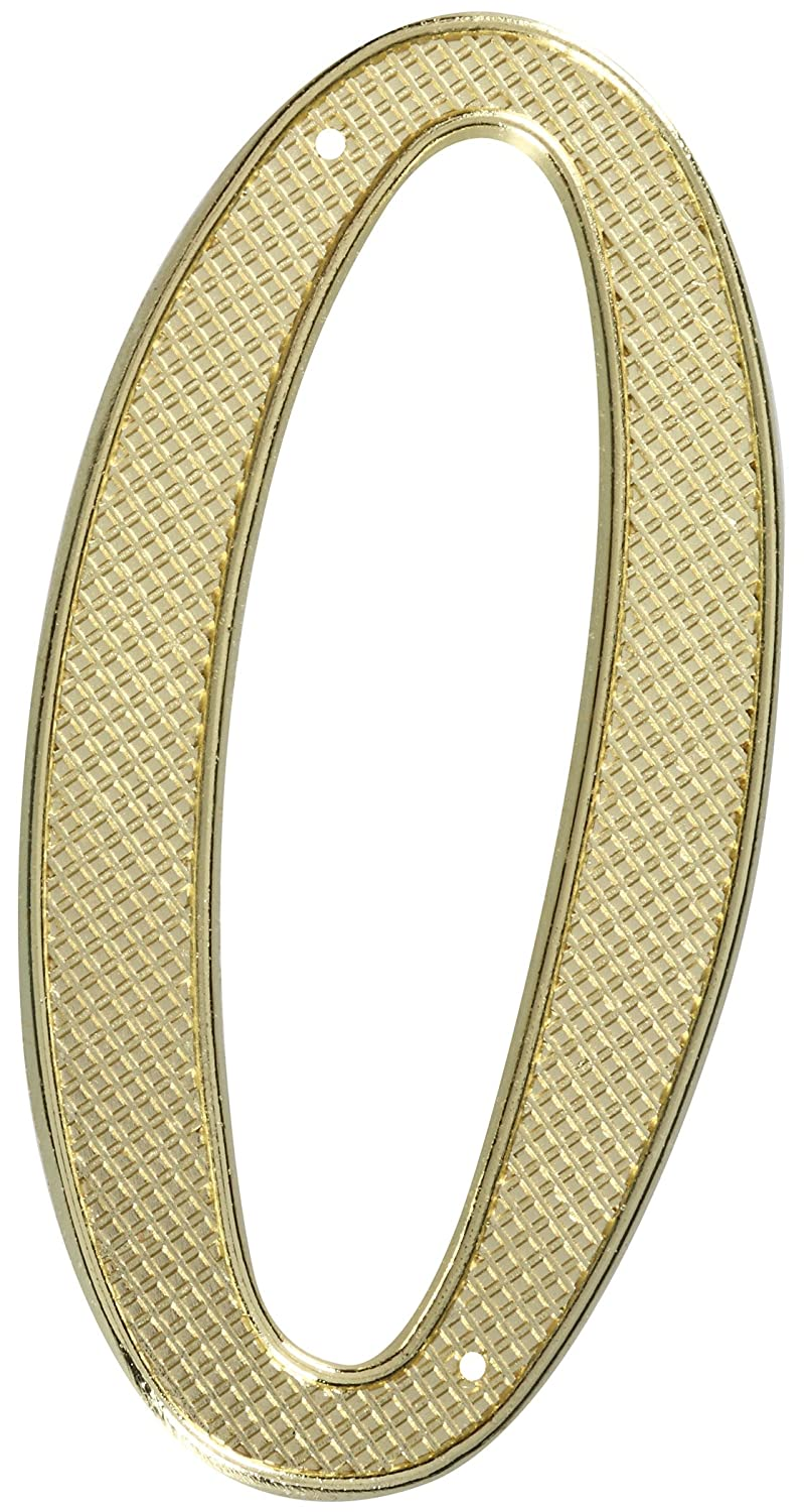 Stanley Hardware S579-915 CD7130 House Numbers in Brass 4 #0