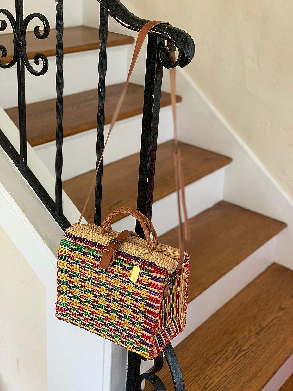 Cuckoo B Clarisa Portuguese Reed Crossbody Basket Handbag