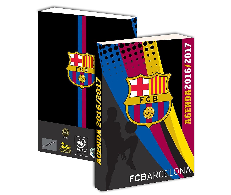 Agenda escolar del FC Barcelona 2016/2017, negro: Amazon.es ...