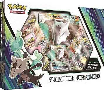 Tarjetas de Pokemon TCG: Alolan Marowak-Gx Caja + 4 Booster Pack + una tarjeta de promoción de papel de aluminio + una tarjeta de tamaño grande: Amazon.es: Bricolaje y herramientas
