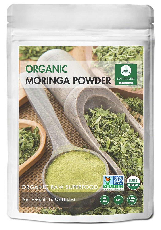 Amazon.com: Organic Premium Moringa Green Leaf Powder (1 Lb), Non GMO  Verified, Raw Superfood. Rich In Vitamin, Calcium, Magnesium, Iron, Protein  | Energy, ...