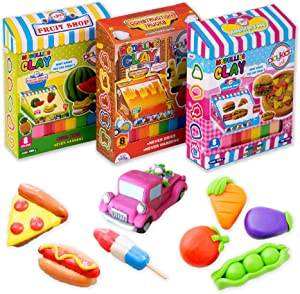 Playkidiz 3 Pack Clay Modeling Crafts Kit for Children, Super Light Nontoxic, STEM Educational DIY Molding Set - Make Models and be Artistic Perfect for Kids, Mess-Free Fun