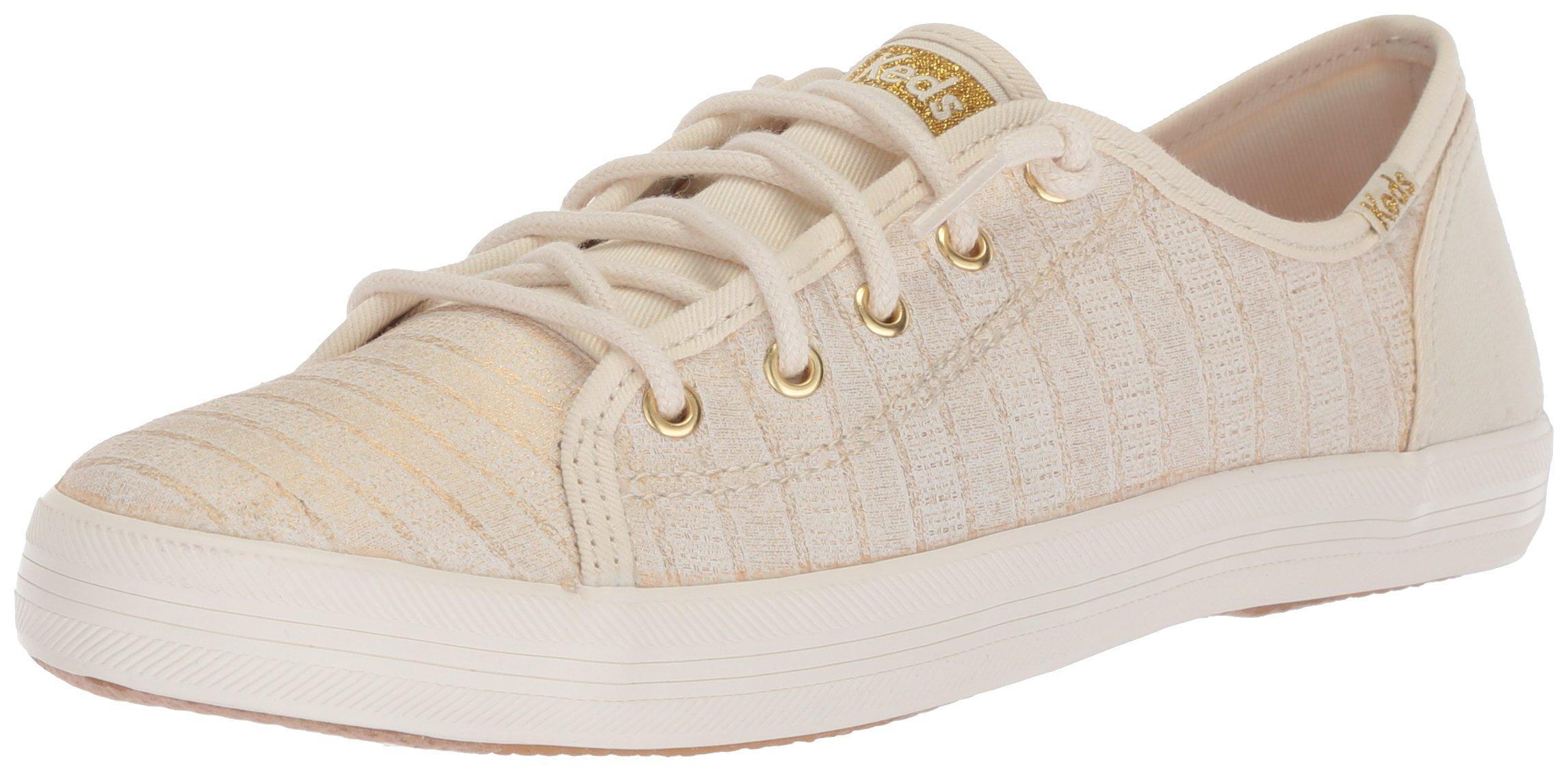 Keds Girls' Kickstart Seasonal Sneaker, White, 5