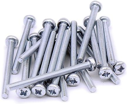 Tornillos cilíndricos M4 de 4 x 50 mm, de acero, pack de 20 ...
