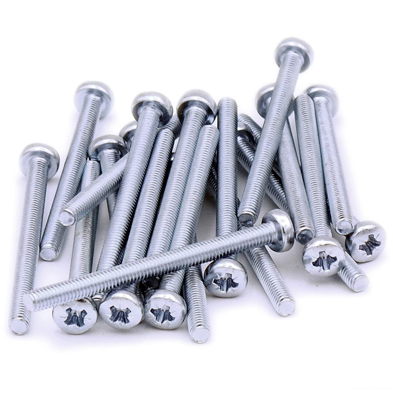 Tornillos cil/índricos M4 de 4 x 50 mm pack de 20 unidades de acero