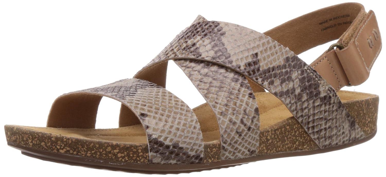 4ccb5c0d4ef7fe Clarks Perri Dunes Womens Leather Comfortable Sandals - Size  7 AUS or 5 UK  - Color  Taupe  Amazon.com.au  Fashion