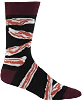 Sock it to Me Men's Bacon Crew Socks,Black One Size