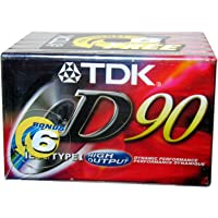 TDK D90 - High Output - Blank Cassette Tapes - Type I - 6 Pack