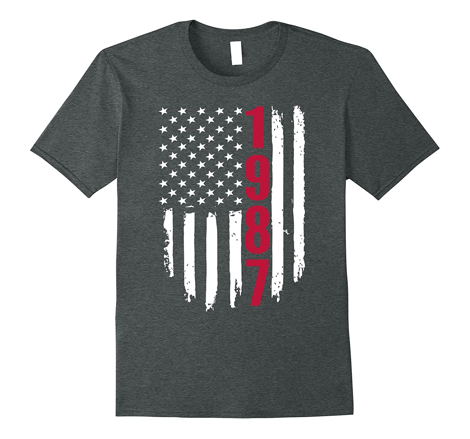 1987 American Flag 30th Birthday Gifts Funny T-Shirts
