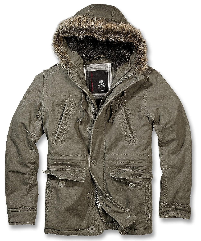 Brandit Men's Plain Jacket - Green - Small