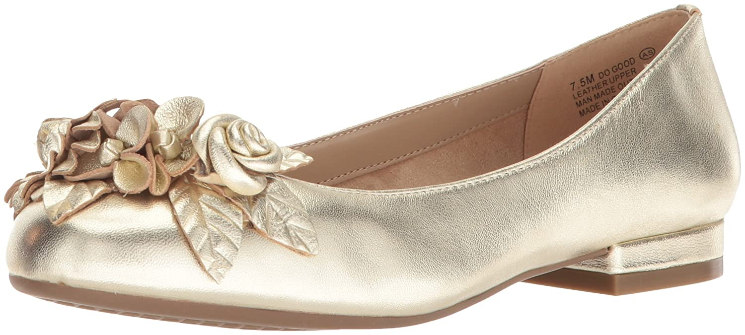 Aerosoles Women's Do Good Ballet Flat B074QSW1Z4 5.5 B(M) US|Gold Leather