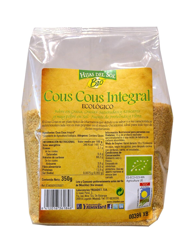 Hijas Del Sol Bio Cous Cous Integral - 350 gr - [Pack de 5]: Amazon.es: Alimentación y bebidas