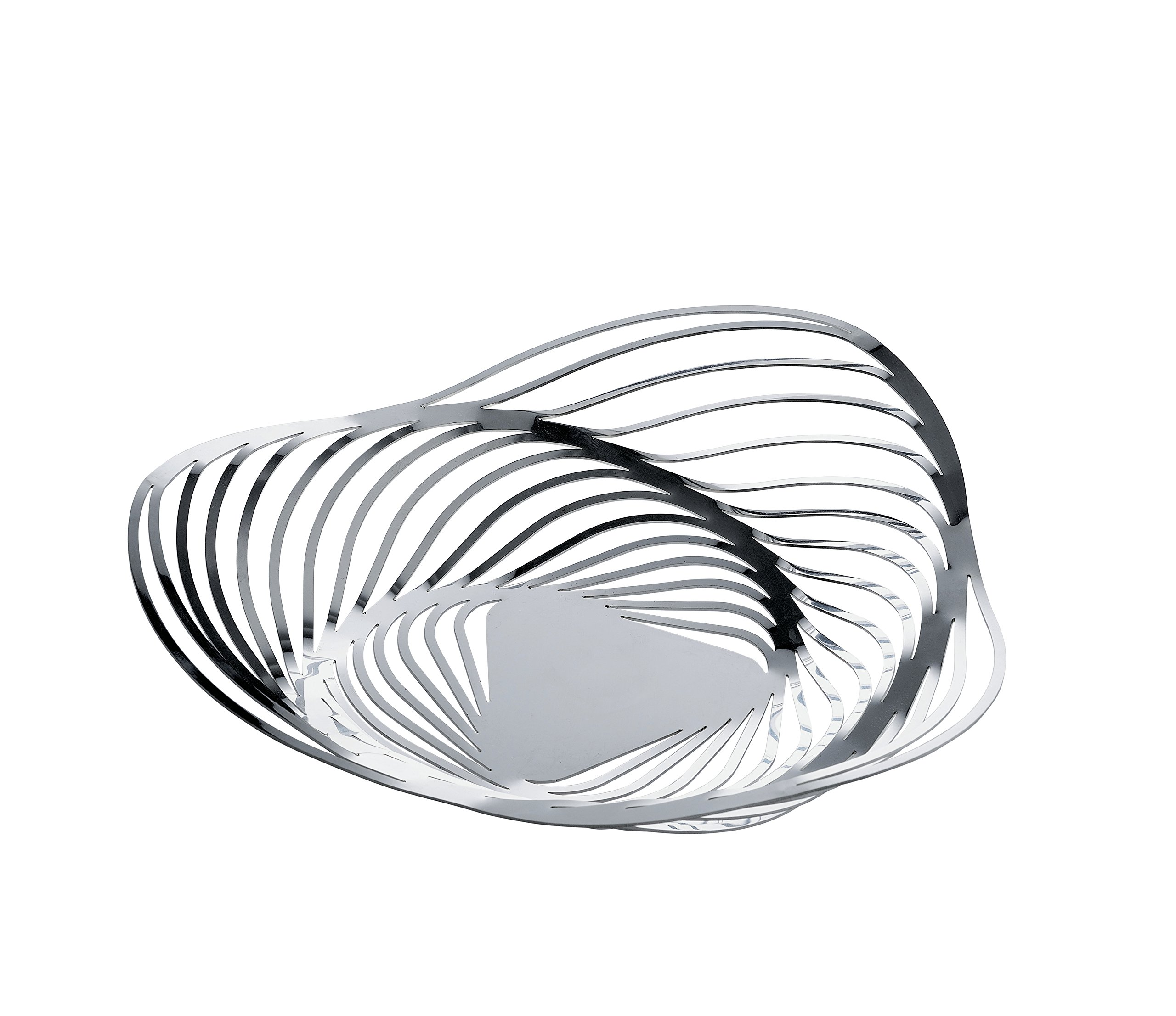 Alessi''Trinity'' Fruit Bowl in 18/10 Stainless Steel Mirror Polished, Silver