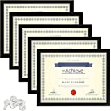 upsimples 8.5x11 Picture Frame Certificate Document Frame with High Definition Glass ,5 Pack Photo Frames for Wall and…