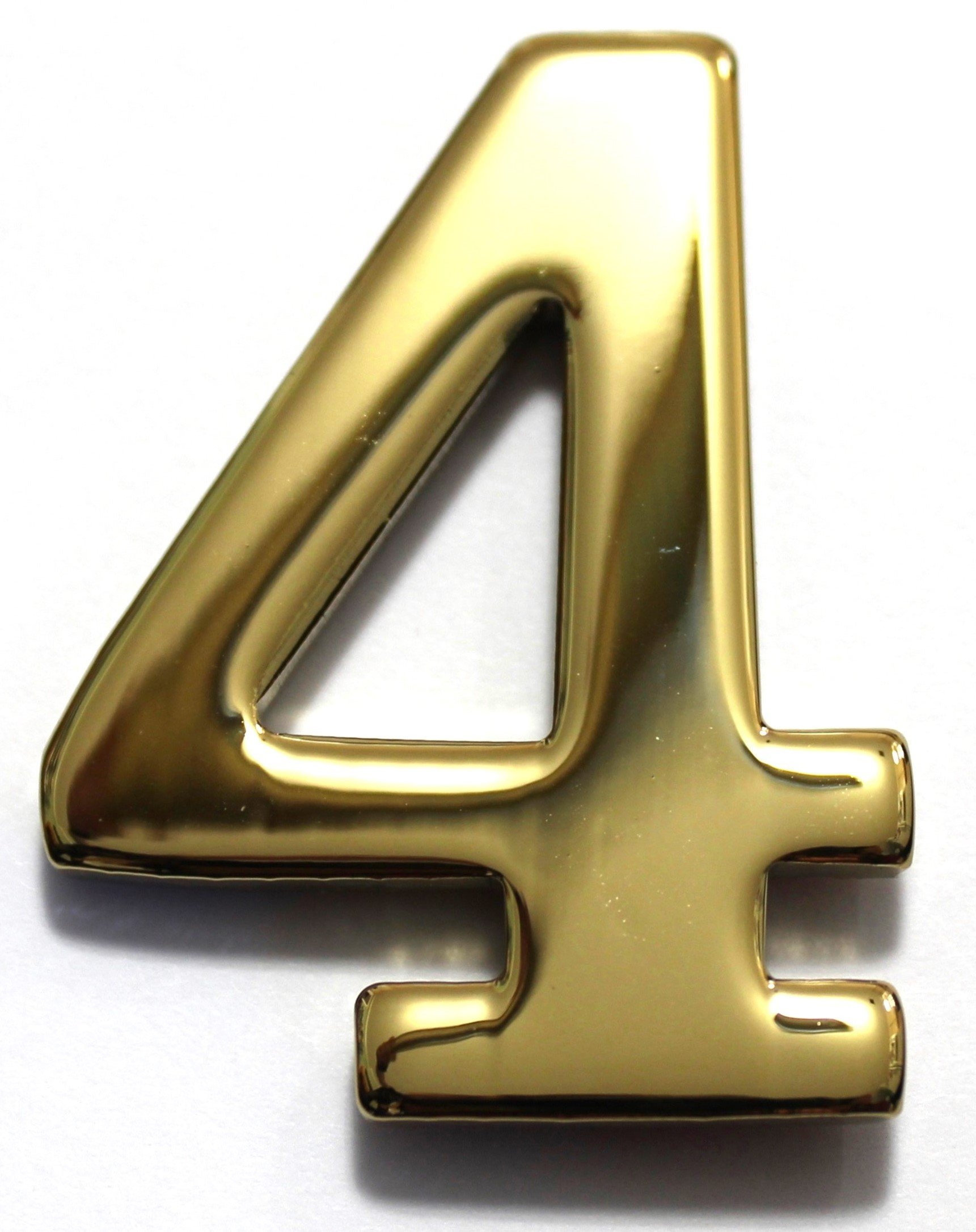 Number 4 - 2'' Brass Numbers Better Box Mailboxes Brass Mail Box Numbers Two Inch Solid Brass Number 4