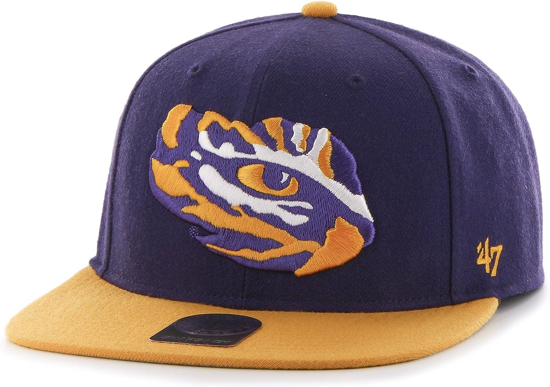 the sale of shoes premium selection release date Amazon.com : '47 NCAA LSU Tigers Sure Shot Two Tone Captain Hat ...