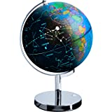 USA Toyz Illuminated Globe of The World with Stand - 3in1 World Globe, Constellation Globe Night Light, and Globe Lamp with B
