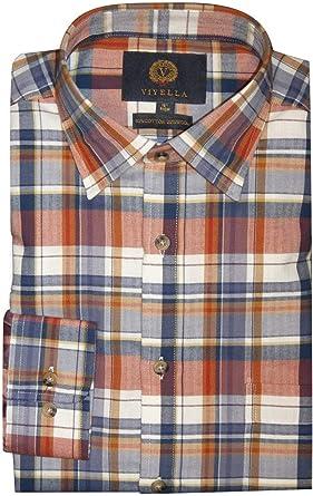 Viyella - Camisa de Manga Larga de algodón y Lana, diseño de ...
