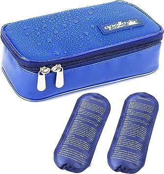 Nueva versión] Bolsa Isotermica Insulina ONEGenug Impermeable Bolsa Diabética Bolsas de frío y Calor Bolsa de jeringas para la diabetes, insulina y Medicamentos (S + 2 Bolsas de hielo): Amazon.es: Salud y