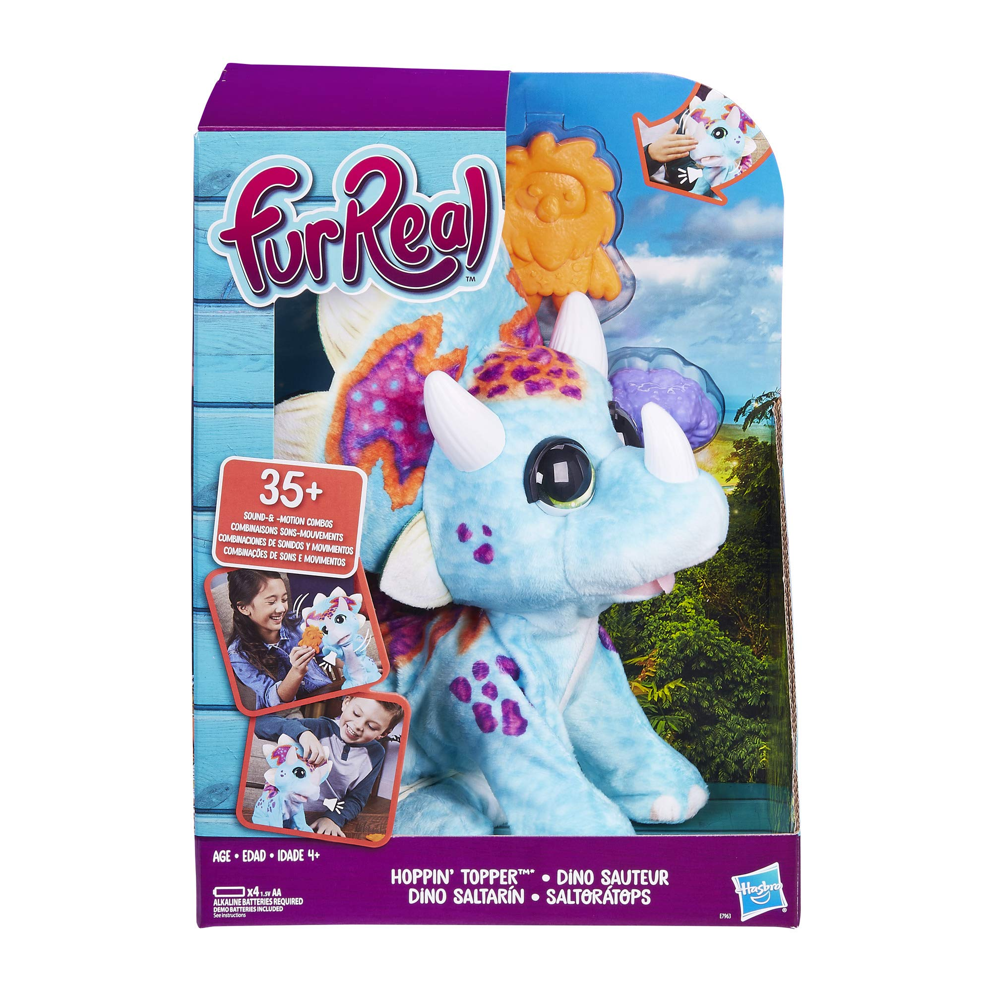 furReal Hoppin' Topper Interactive Plush Pet Toy, 35+ Sound-&-Motion Combinations, Age