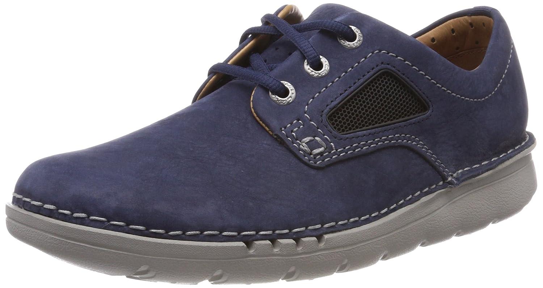 Clarks Unnature Plain, Zapatos de Cordones Derby para Hombre 42 EU|Azul (Navy Nubuck)