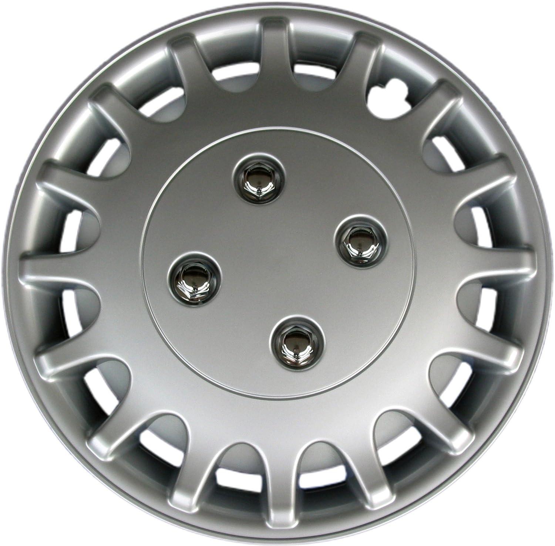 Nissan Sunny Drive Accessories KT-1018-13S//L 13 Silver Replica Wheel Cover, Set of 4