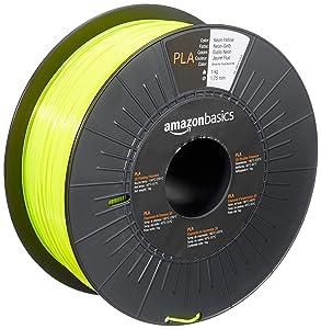 AmazonBasics PLA 3D Printer Filament, 1.75mm, Neon Yellow, 1 kg Spool