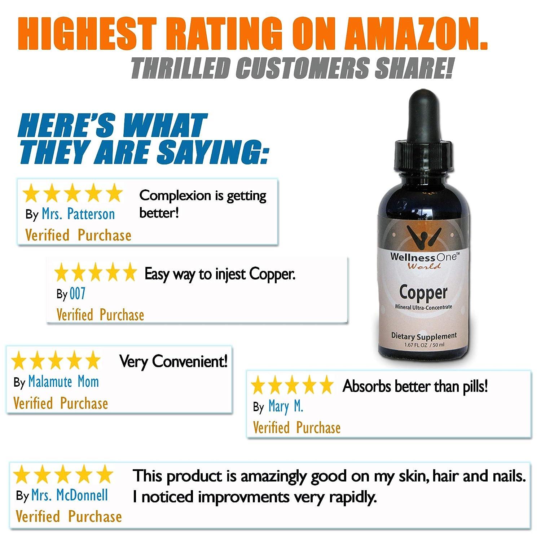 Amazon.com: Cobre – PREMIUM Mineral Líquido (100 días en 2 ...