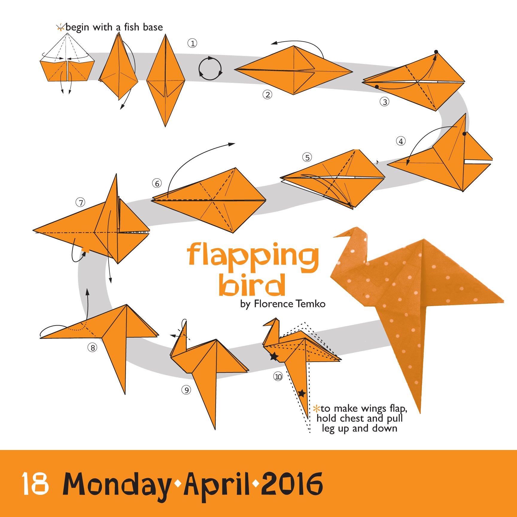 Origami color page a day calendar 2016 margaret van sicklen origami color page a day calendar 2016 margaret van sicklen 9780761182986 amazon books jeuxipadfo Image collections