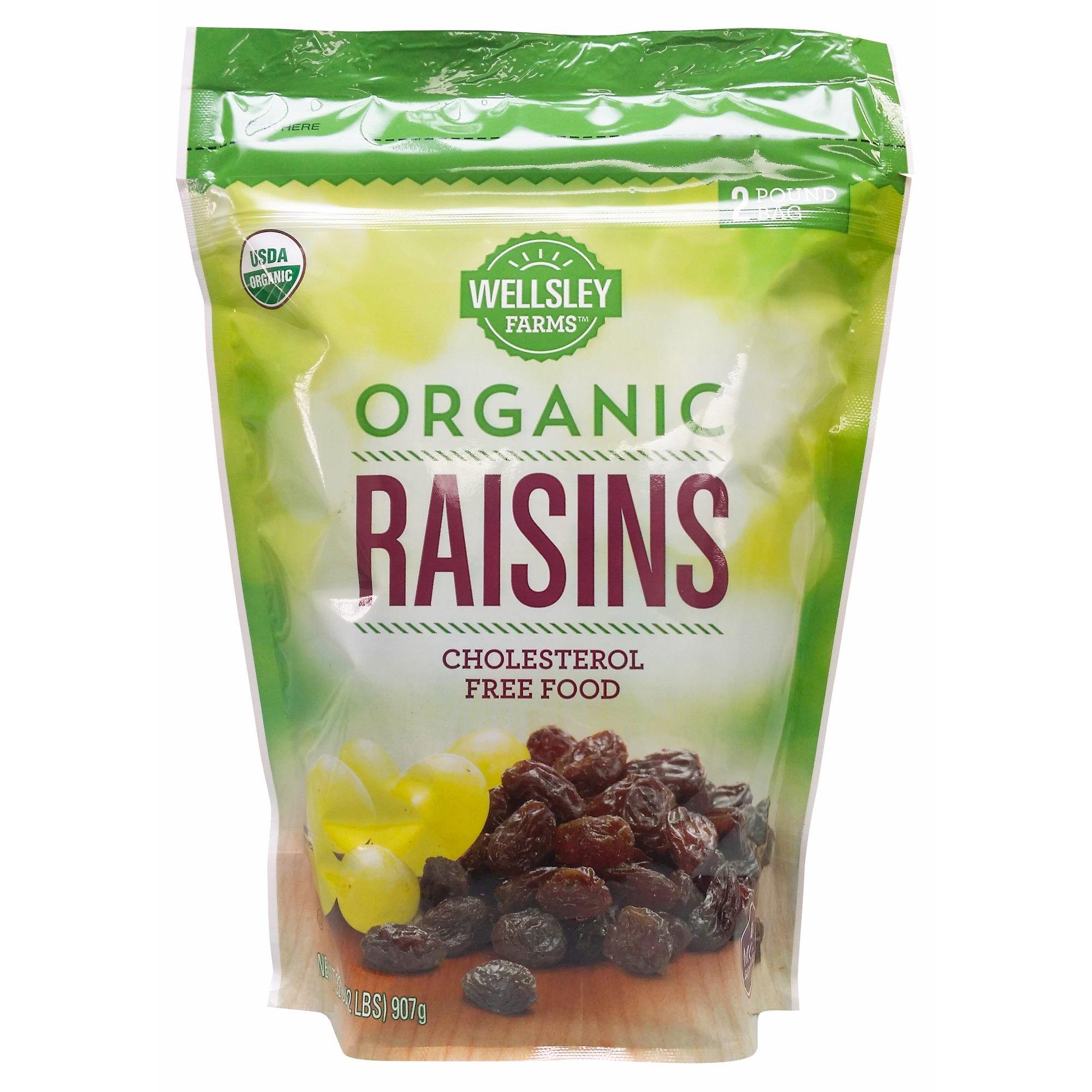 Wellsley Farms Organic Raisins, 2 lbs. (pack of 2)