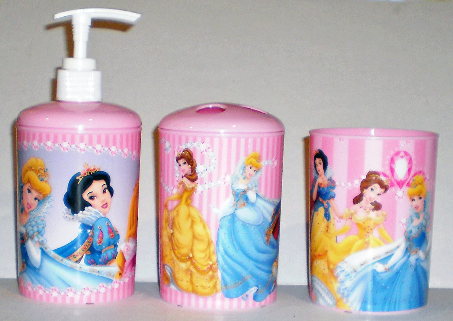Amazon.com: Disney Princess 3 Piece Bathroom Accessories Set: Home U0026 Kitchen