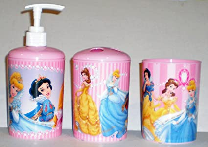 Delightful Disney Princess 3 Piece Bathroom Accessories Set