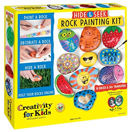 Amazon.com: Creativity for Kids Hide and Seek Rock Painting Kit ...