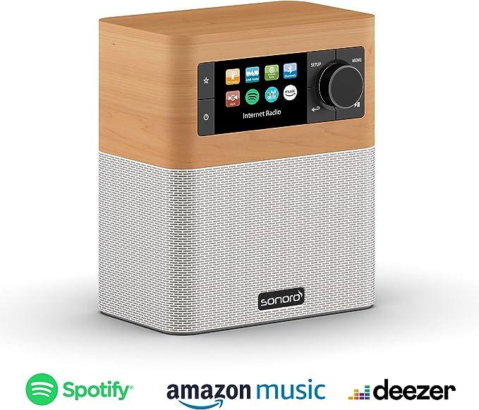 Sonoro Stream Kuchenradio Mit Dab Plus Und Bluetooth Ukw Fm Wlan Internetradio Spotify Amazon Deezer Spritzwassergeschutzt Ahorn Weiss 2020 Amazon De Heimkino Tv Video
