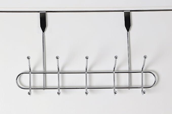 Premier Housewares - Perchero para puerta, 10 ganchos, cromo ...