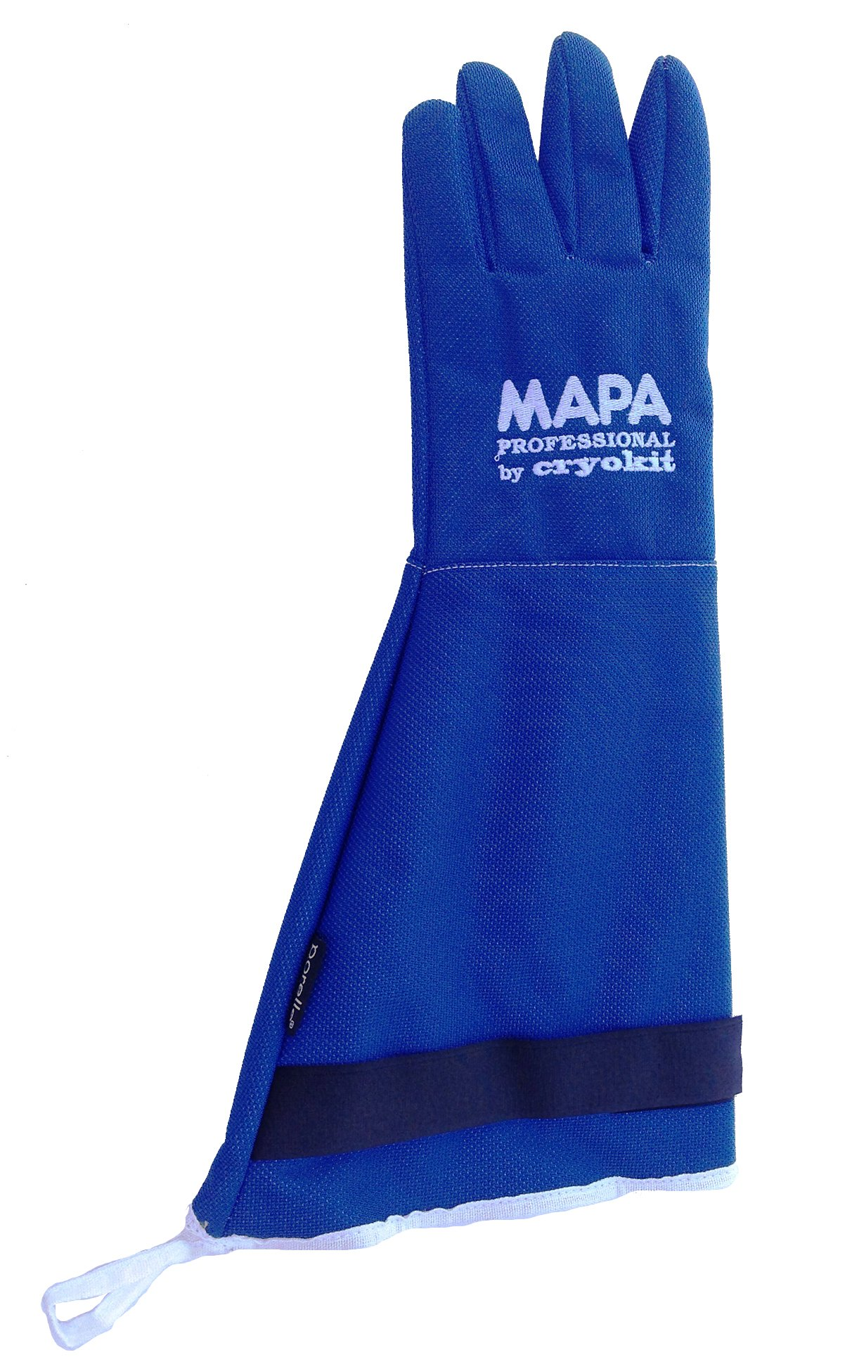 MAPA Professional CRYPLS214508 CRYOPLUS-2.1 45 Cryogenic Glove, (18''-Ma), Size 8, PR 1, Blue