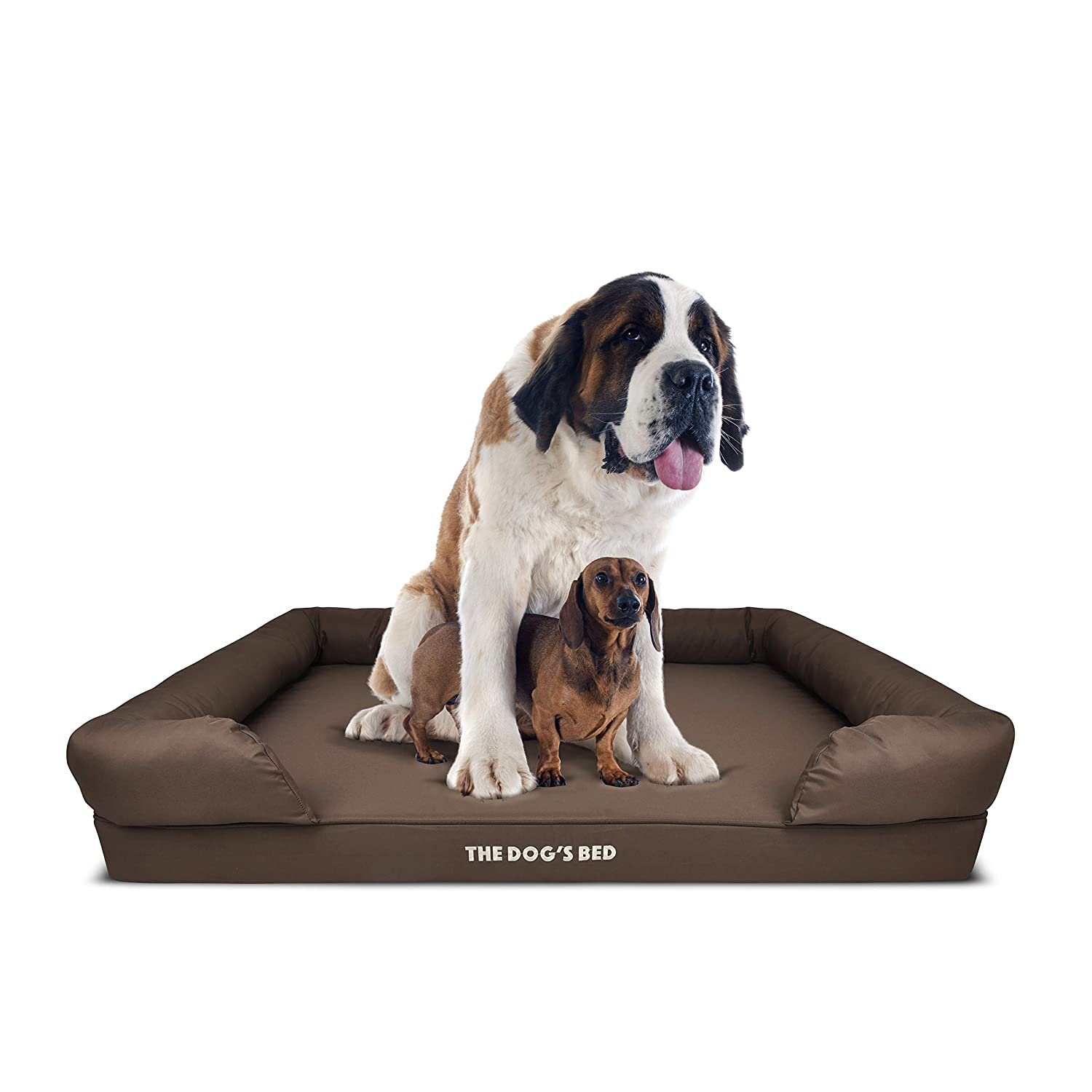 e24ebd0a0d74 The Dog's Bed, Premium Orthopedic Dog Beds, 4 Sizes 4 Colors, Waterproof,  Memory Foam Eases Pet Arthritis, Hip Dysplasia & Post Op Pain, Quality  Calming ...