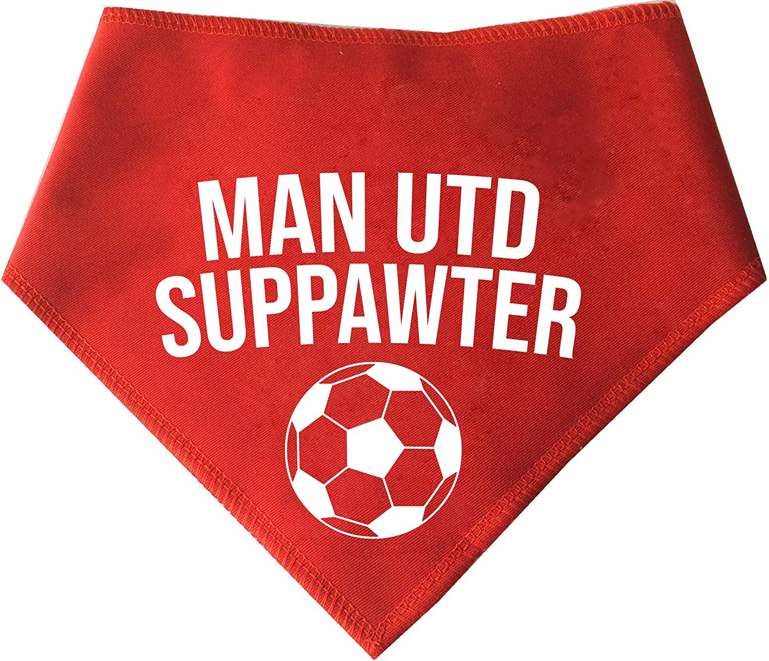 Westies Terriers /& Cockerpoo Sized Dogs Suitable For Shih-tzu Spoilt Rotten Pets S2 Manchester United Football Club Suppawter ManU Small For Dogs That Follow The Red Devils Red Dog Bandana