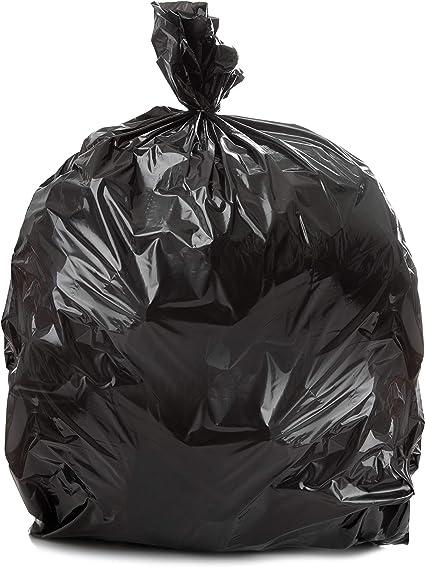 "Black Trash Bags//Can Liner 40/""W x 48/""H 45 Gallon Trash Bags HDPE"