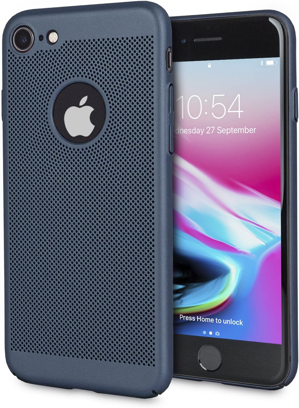 Olixar for iPhone 8 Slim Case - Heat Dissipating Mesh Cover - MeshTex - Cooling Case - Breathable Case - Wireless Charging Compatible - Blue
