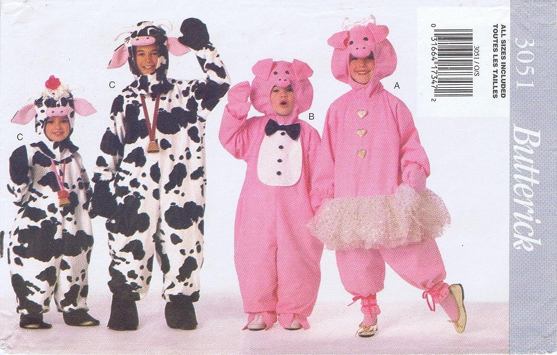 Amazon butterick see sew 3051 butterick 3051 pigcow amazon butterick see sew 3051 butterick 3051 pigcow costume pattern boysgirls sizes 2 10 arts crafts sewing jeuxipadfo Images