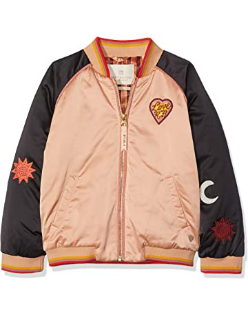 a5e158490 Scotch & Soda Girl's Padded Bomber Jacket with Colour Block & Placed  Artworks