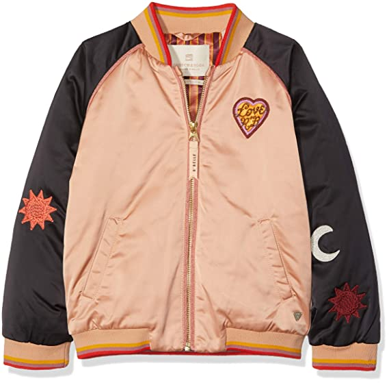 86dc88bc3 Scotch   Soda Girl s Padded Bomber Jacket with Colour Block   Placed ...