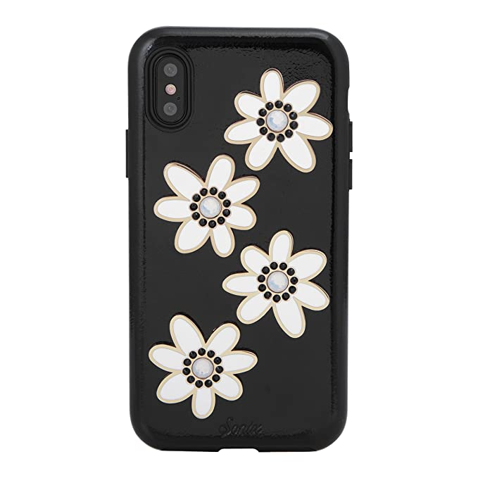 iPhone Xs, iPhone X, Sonix Opal Daisy Patent Leather Cell Phone Case  Swarovski Crystal Embellishments [Drop Test Certified] Sonix Women's Patent  Case