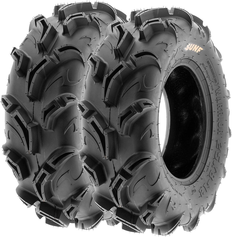 6 PR Pair of 2 SunF Warrior AT 27x11-14 ATV UTV Mud /& Trail Tires Tubeless A048